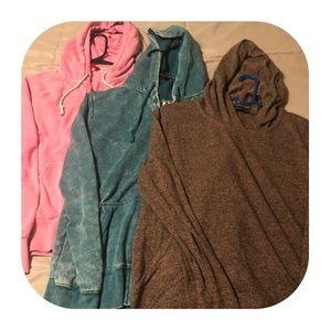 3 Hooded Sweatshirts